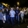 Opposition supporters hold a protest march in support of initiators of the occupation of Patrol-Guard Service Regiment of Erebuni district in Yerevan, Armenia